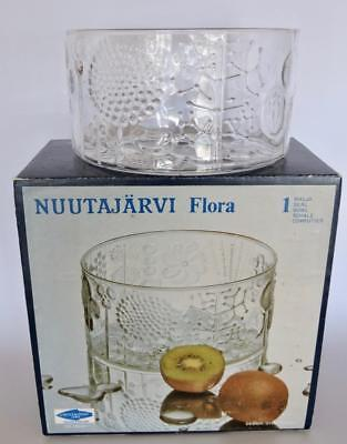"NUUTAJARVI FLORA OIVA TOIKKA 15cm 6"" BOWL ORIGINAL BOX EXCELLENT CONDITION ""A"""
