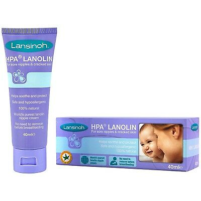 Lansinoh HPA Lanolin For Sore Nipples Cracked Cream BREASTFEEDING Cream 40ml