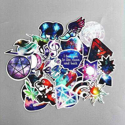 28pcs Cool Skateboard Stickers Pack, Funny Laptop Luggage Snowboard Car Decals