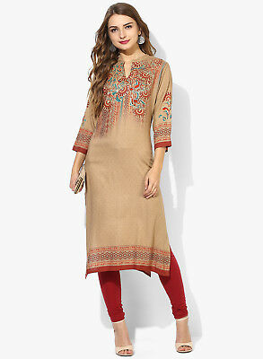 Indian Bollywood Designer New Stylish Printed Rayon Lagi Kurta Kurti