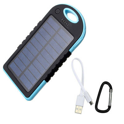 5000mah 2 in 1 Solar Power Bank Waterproof Dual USB Output USB Charger US