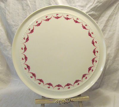 """Furstenberg West Germany Pink Rose Swag Round Chop Plate Charger 11 3/4"""""""