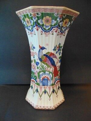 Booths Old Dutch Eight Sided Vase In Good Condition