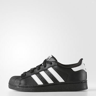 New adidas Originals Superstar Shoes D70186 Kids' Black Sneakers