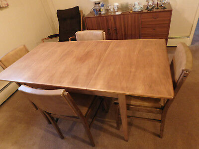 Gordon Russel of Broadway Extending Table and 4 Chairs +stool 1950/1960 Vintage