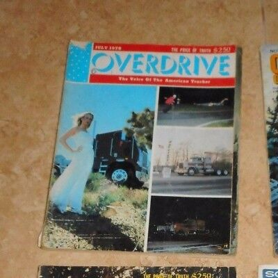 Vintage Overdrive Magazine Voice of the American Trucker Magazine July 1978