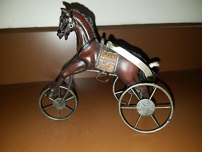 New Victorian Antique Replica Horse Tricycle Wheels Vintage Retro Ornament