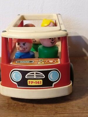 Vintage Fisher-Price Little People  Mini School Bus   1969