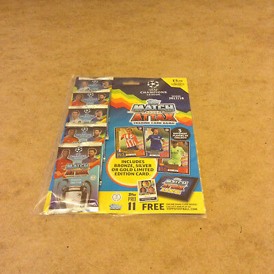 Match Attax Uefa Champions League 2017/18 Trading Card Multi Pack New 45 Cards