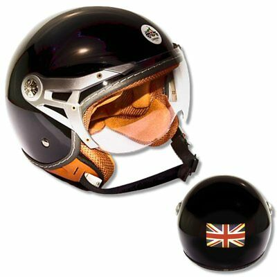 Carnaby Designs Blackjack Jet Open Face Scooter Helmet RRP £89.99 Small
