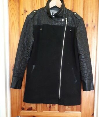 RIVER ISLAND, Quilted Faux Leather, Viscose, Winter Coat, Girls, Aged 12 Years