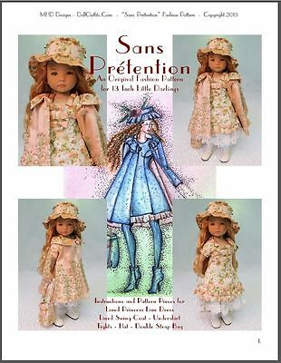 "/""Mini Riens/"" Fashion Pattern for Dianna Effner/'s 13 Inch Little Darlings"