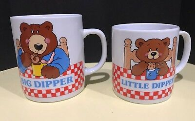AVON Gift Collection Big Dipper Little Dipper Mug Set Coffee Cocoa Cups Dad Son