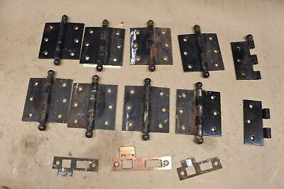 4 Pair Of Antique Door Hinges Circa 1890