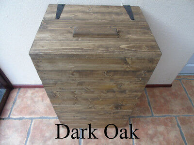 Handmade Rustic Style Wooden Laundry Basket- Many Colours and Sizes