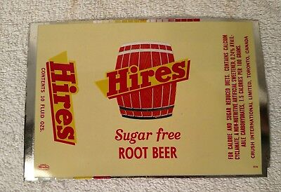 Vintage 12Oz Sheet Hires Sugar Free Root Beer