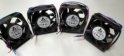Lot (4) 24V 60mm x 60mm x 25mm Axial Fan - Delta AFB0624EH-ABR00