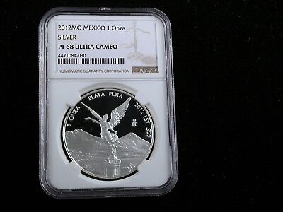 Mexico 2012 Silver Onza  NGC graded PF68 Ultra Cameo