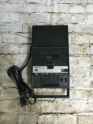 Sharp Cassette Player. Vintage.