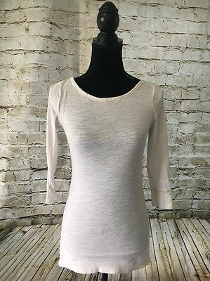 American Eagle Outfitters Cream/Off White Vintage  Basic Tee. Size: Small/Petite