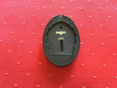 Genuine Boston Leather 700-4450 Oval Recessed Clip On Badge Holder