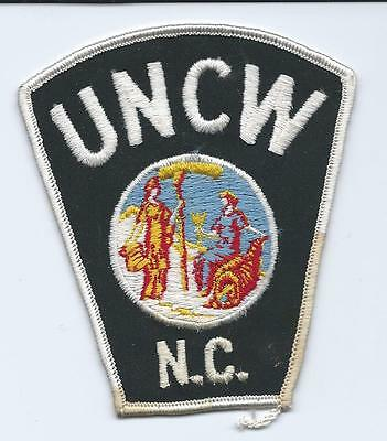 "North Carolina Uncw Police Vintage Patch New & Unused 3 & 3/4"" X 4"""