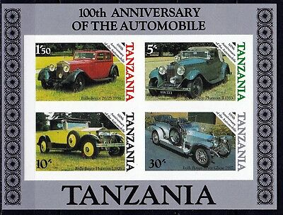 T41850 Tansania Tanzania Bl.53 postfr/mnh Autos cars Rollce Royce ungez.imperf.