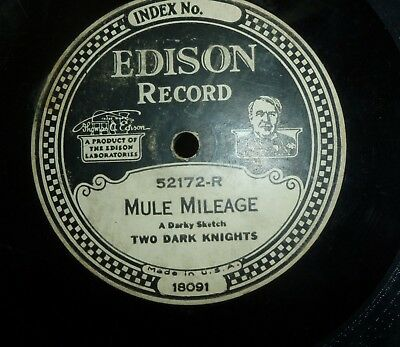 """Lot of Antique 10"""" Edison """"78 rpm"""" records; 22 thick dual-sided recordings"""