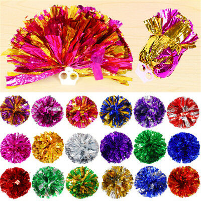 Handheld Pom Poms Cheerleader Cheerleading Dance Party Football Victory Come On