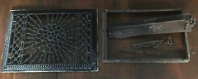 Antique Rectangular Cast Iron Floor Wall Register Grate,Vent~ for parts/repair