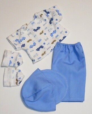"Cabbage Patch Doll Clothes: Fit 16""doll:boys Cap,pants,t Shirt&booties Set- 5Pc"