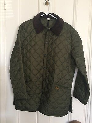 barbour men's olive greeen Liddesdale quilted jacket size medium
