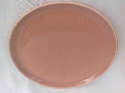 "Russel Wright American Modern 10"" Dinner Plate Coral XLNT Cond Made in USA"