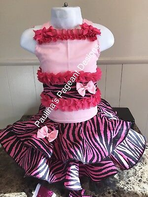 National Pageant Valentines Day, Jungle, or Rock Casual Wear 3-5t OOC. Multi Use
