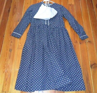 Girls Pioneer / Little House / Laura Ingalls Calico Dress w/ Bonnet