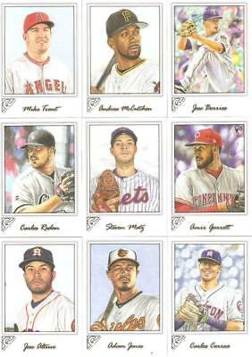 2017 Topps Gallery Singles W/rc's ***you Pick*** #'s 1-75