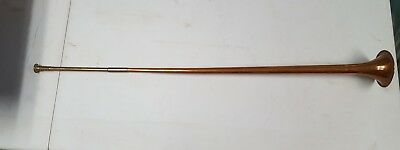 Medieval type announcement HORN TRUMPET brass made in England long straight