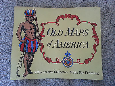 Old Maps of America - 6 Decorative Collectors Maps For Framing Howard Morris