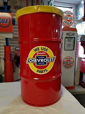 Chevrolet Nostalgic 1950S Vintage Style 16 Gallon Cold Rolled Steel Trash Can