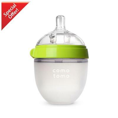 Comotomo Natural Feel Baby Bottle (Green, 5oz).