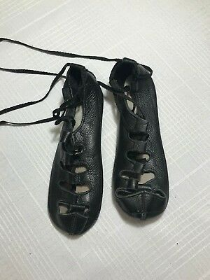 Irish Dance Shoe, Soft Black Leather, Rutherford Ghillies, size 3 1/2