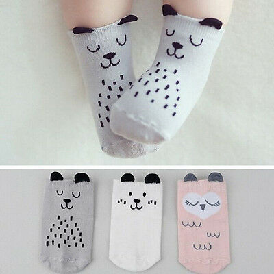 Cute Baby Anti-slip Socks Boy Girl Cartoon Cotton NewBorn Infant Toddler Sock、AU
