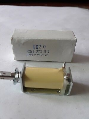Ledex C5-L-273-B-1 Linear Solenoid 4 VDC Magnetic Latching