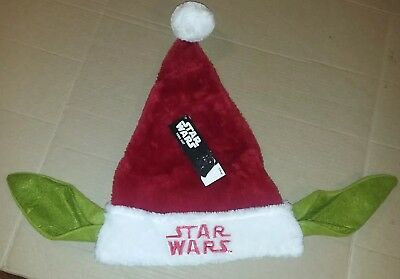 NEW Star Wars Yoda Ears Plush Adult Size Christmas Santa Hat Embroidered