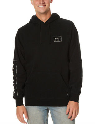 New Tag Billabong Mens Gothic Size S Hooded Jumper Hoodie Fleece Pullover Black