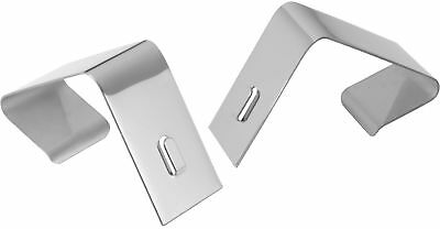 Quartet Flexible Metal Cubicle Hangers, 1 1/2' - 2 1/2' Panels, Silver, 2/Set