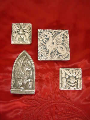 Architectural Cast Molding Plaques Wall Hanging Gothic Griffin Dragon