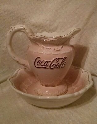 Victorian Series Coca Cola Company 1998 Pitcher & Bowl Set