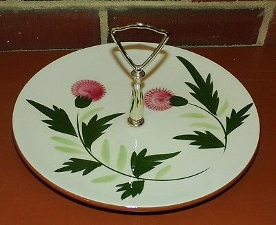 Stangl Thistle Pattern Sandwich Tidbit Cookie Serving Tray Excellent Condition