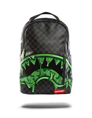 SPRAYGROUND Slime Shark In Paris BACKPACK LAPTOP 910B1361NSZ UNISEX BOOK BAG